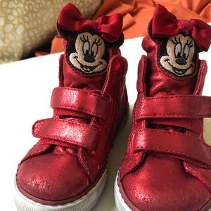 Baby Gap Red Minnie Mouse Sneaker